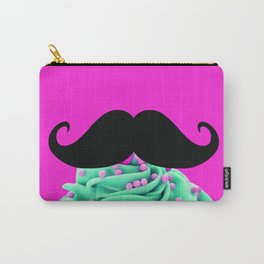 Cupcake Mustache Carry-All Pouch