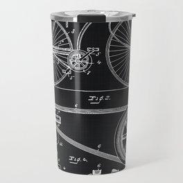 Vintage Bicycle patent illustration 1890 Travel Mug