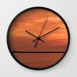 wonderful sunset Wall Clock
