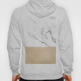 White Marble with Black and Copper Bronze Hoody