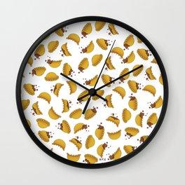 Empanada Frenzy Wall Clock