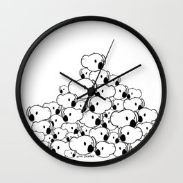 Lovely bunch of Peaches Wall Clock