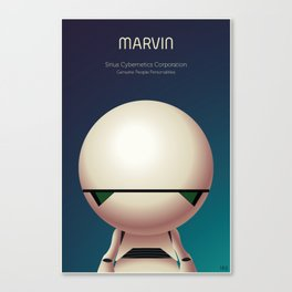 Marvin the Android Canvas Print
