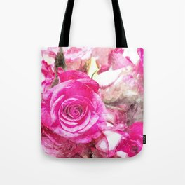 Bunch of Pink roses (watercolour) Tote Bag