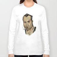die hard Long Sleeve T-shirts featuring Die Hard - John McClane by Adam Dunt