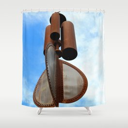 Wind Chimes For Giants Shower Curtain