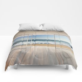 Window with an Ocean View Comforters