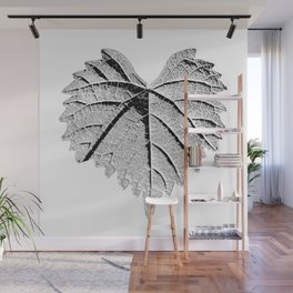 backlight leaf drawing Wall Mural