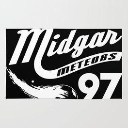 Gamer Geeky Chic FF7 Inspired Midgar Meteors Baseball Style Design Rug