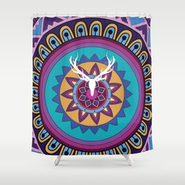 Helioconia in indonesian Shower Curtain