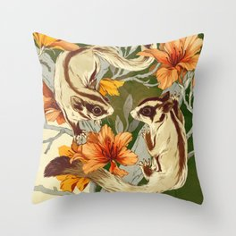 Sugar Gliders Throw Pillow
