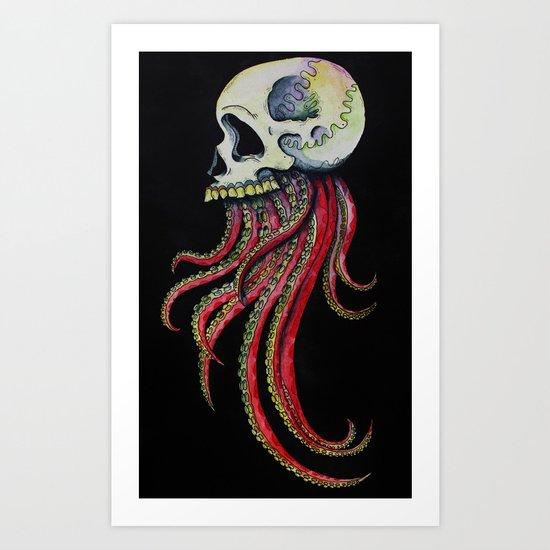 Tintaskull Art Print