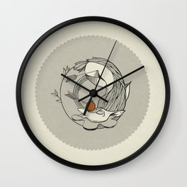 Forest /// Funeral Wall Clock