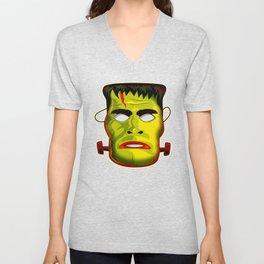 Frankenstein Monster Mask Unisex V-Neck