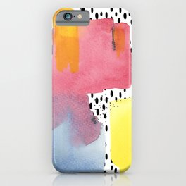 Mountains in the Rain iPhone Case