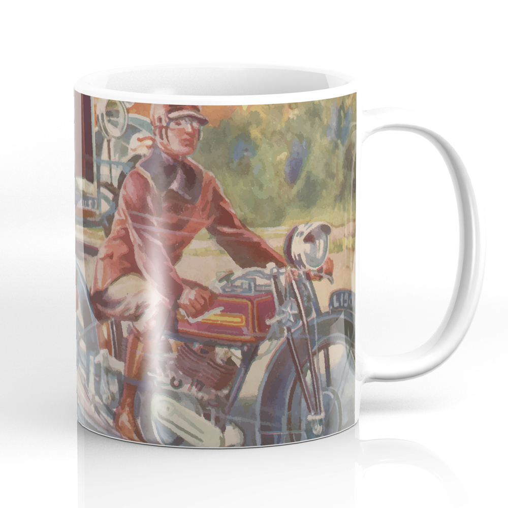 Cars and Motorcycles Mug by ricknorton