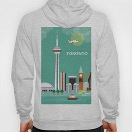 Toronto, Ontario, Canada - Skyline Illustration by Loose Petals Hoody