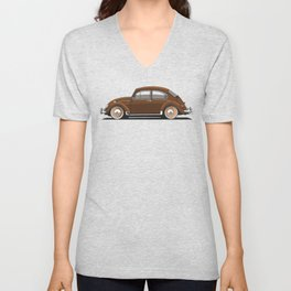 Legendary Classic Brown Bug Vintage Retro Cool German Car Wall Art and T-Shirts Unisex V-Neck