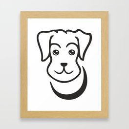 puppy, dog, cartoon, friend, pet, cutie Framed Art Print