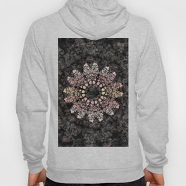 Floral ornament with strawberries silhouettes Hoody