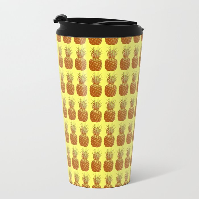 Pineapple #2 Metal Travel Mug