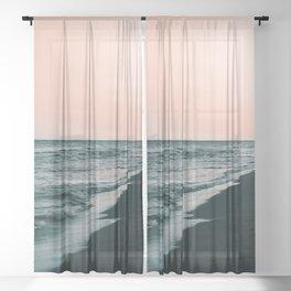 Sunset Beauty #1 #wall #decor #art #society6 Sheer Curtain