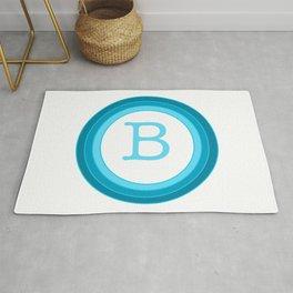 Blue letter B Rug