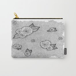 Dotted Floral Carry-All Pouch