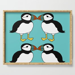 Kissing Puffins Serving Tray