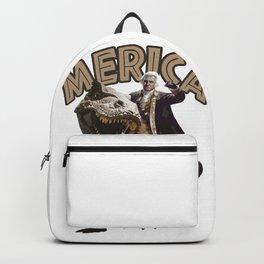 George Washington Riding a Tyrannosaurus Rex Backpack