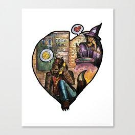 wizard and werewolf Canvas Print