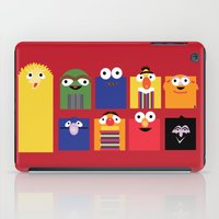 sesame street iPad Cases featuring Sesame street by Maria Jose Da Luz