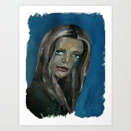 Sad Girl Portrait Art Print
