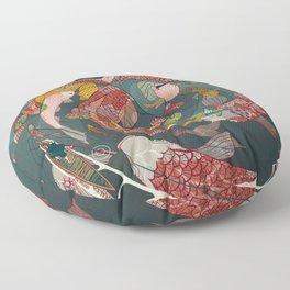Ukiyo-e tale: The creative circle Floor Pillow