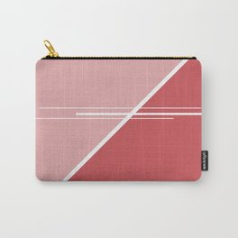 Red Triangles #buyart #kirovair #design #minimalism #society6 Carry-All Pouch