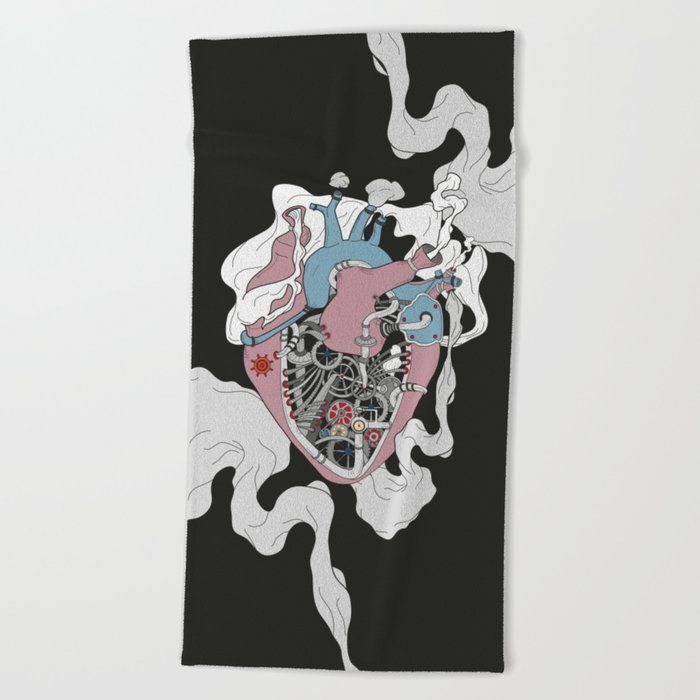 Mechanic Heart Beach Towel