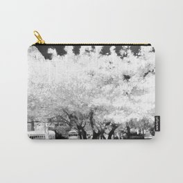 Park Ave (Black and White) Carry-All Pouch