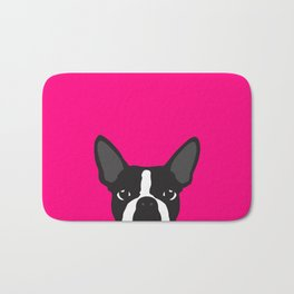 Boston Terrier Hot Pink Bath Mat