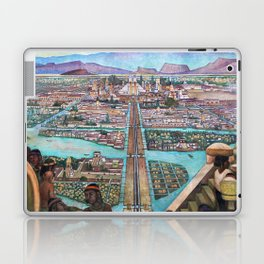 Mural of the Aztec city of Tenochtitlan by Diego Rivera Laptop & iPad Skin