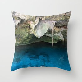Dos Ojos Cave Cenote Mexico Mayan Jungle Nature Reserva Reserve Travel Latin America Throw Pillow