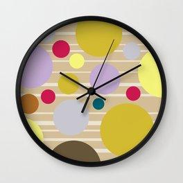 STRIPES & DOTS 4-2018 Wall Clock
