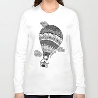 baloon Long Sleeve T-shirts featuring Hot Air Baloon by Fill Design by mervegokdere