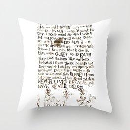 Listener Lyrics Poster Throw Pillow