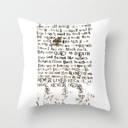 Listener Lyrics Poster Throw Pillow