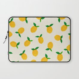 Lemon_Yellow_Pattern_01 Laptop Sleeve