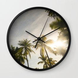 Palm Trees. Wall Clock
