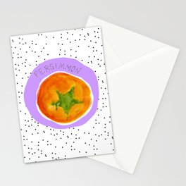 Pretty Persimmon Print Stationery Cards