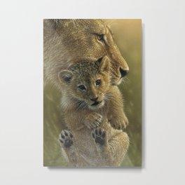 Lion Cub - Mother's Pride Metal Print