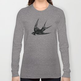 Swallow on Blue Long Sleeve T-shirt