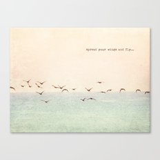 Spread your wings and fly Canvas Print